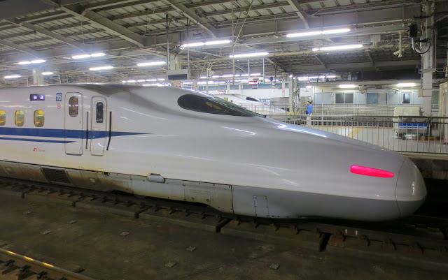 Our Shinkansen bullet train, taking us back to Fukuoka from Osaka