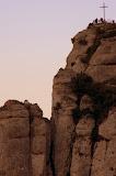 A Cross On One of the Rocky Peaks - Montserrat, Spain