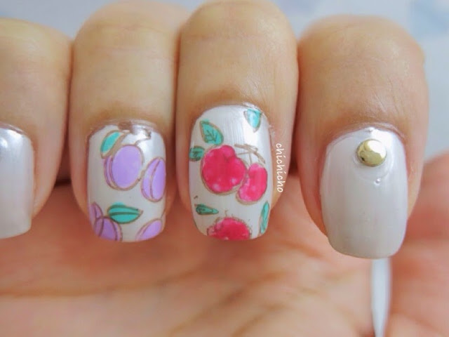 Fruity Nail Art (Image Plate Y004 Born Pretty Store Review)