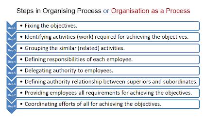 steps in organising process