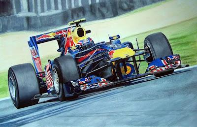 Марк Уэббер 2010 Red Bull RB6 by Tony Regan