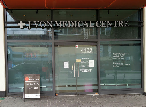 J-Von Medical Centre, 4468 Beresford St, Burnaby, BC V5H 2Y8, Canada, Medical Clinic, state British Columbia