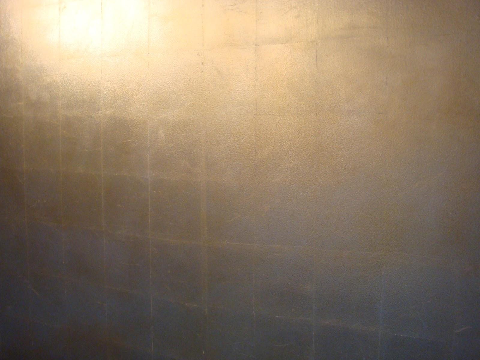 Gold foil leaf wallpaper