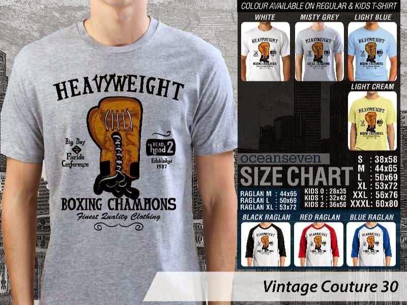 KAOS Heavy Weight Boxing Champions boxing tinju Vintage Couture 30 distro ocean seven