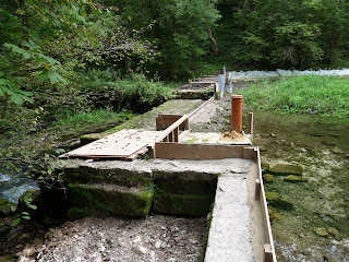 Cow Gate Weir repairs - Lathkill Dale