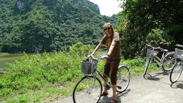 "Me on my ""wonderful"" bicycle =)"