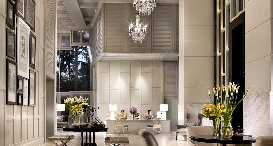 曼谷東方公寓 (Oriental Residence Bangkok)酒店大堂有現代感及很有係氣派