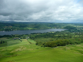Ullswater from the ascent of Arthurs Pike