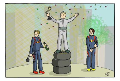 подиум Гран-при Монако 2013 - комикс Stuart Taylor