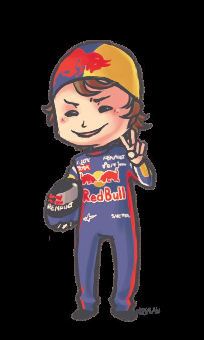гонщик Red Bull Racing Себастьян Феттель by tattiosala