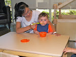 LePort Private School Irvine - Low table for feeding at Montessori daycare
