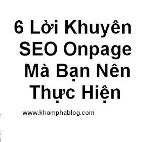 lời khuyên seo onpage cho blogspot