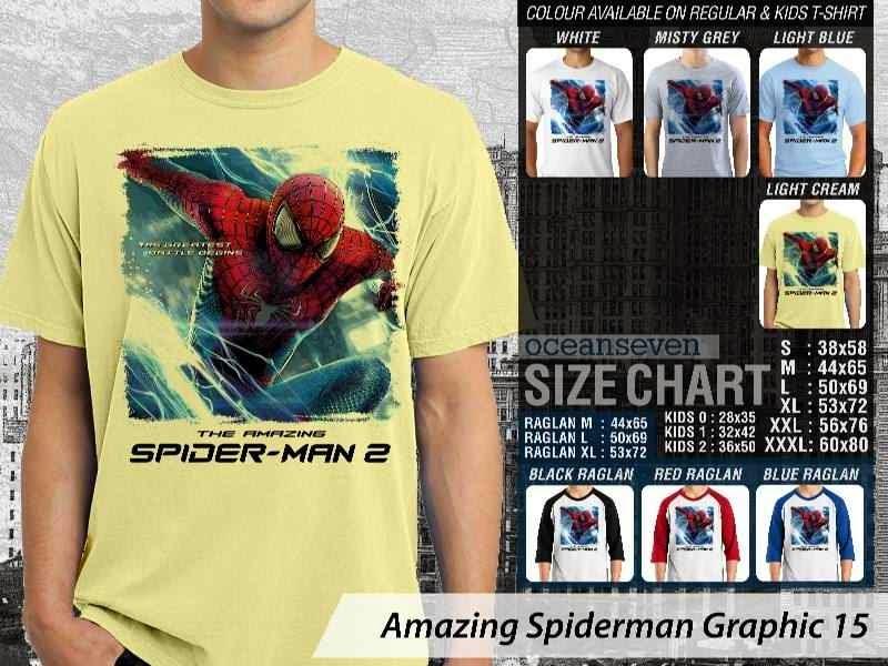 Kaos Film Superhero Amazing Spiderman Graphic 15 distro ocean seven