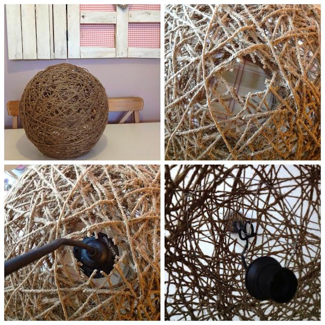 Tuki&apple home: diy: lámparas de hilo o cuerda