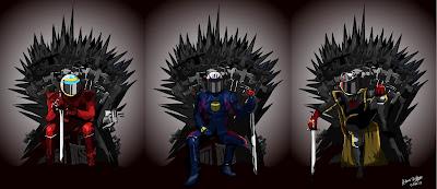 Фернандо Алонсо, Себастьян Феттель и Кими Райкконен - по мотивам Игры престолов от Circus_comic
