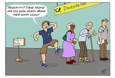 Себастьян Феттель в очереди - комикс Stuart Taylor