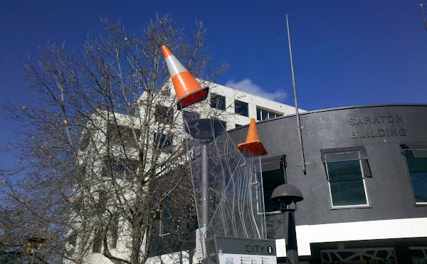 city walk witches hats