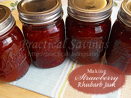 Making Strawberry Rhubarb Jam