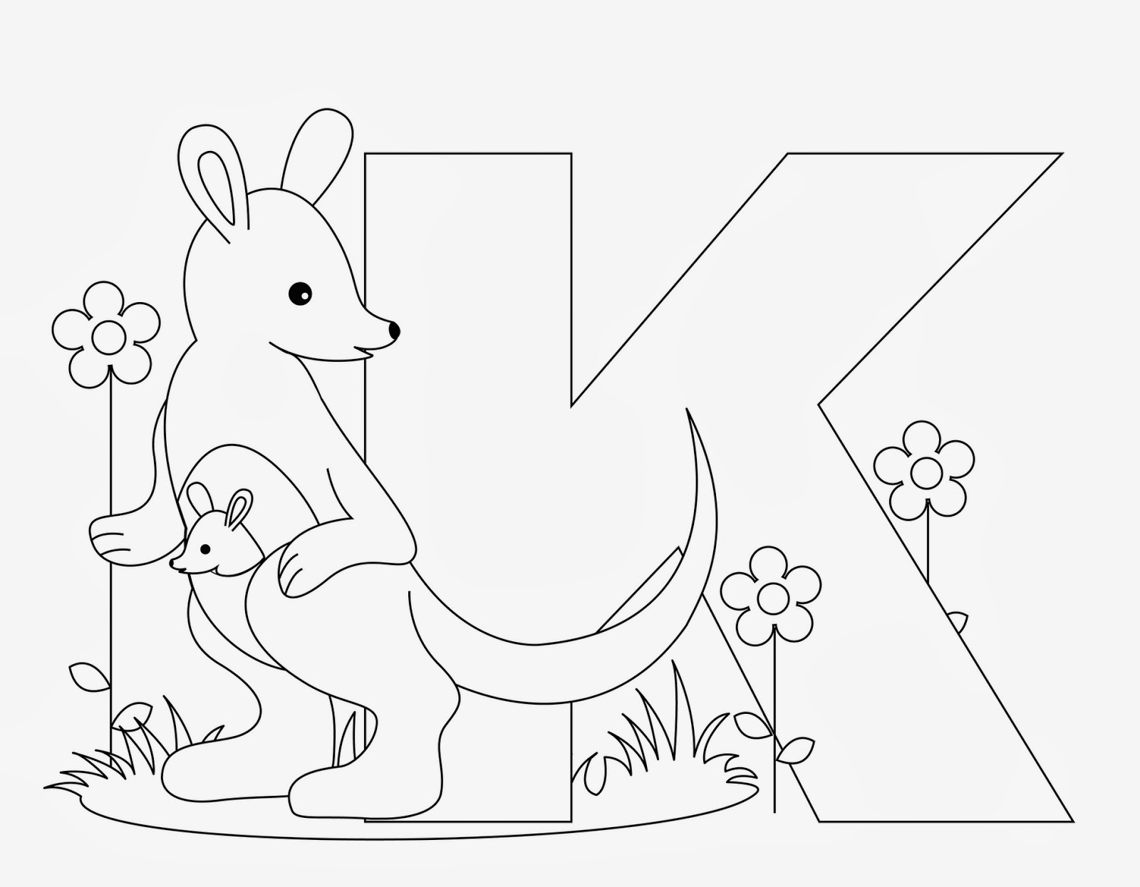 alphabet coloring pages printable - Preschool Alphabet Coloring Book TLSBooks