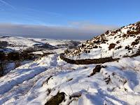 A Snowy Scene At Curbar Gap