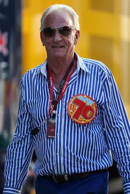 Джон Баттон празднует 70-летие на Гран-при Венгрии 2013