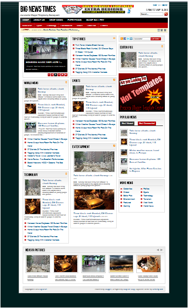 5 mẫu tin tức - báo điện tử đẹp cho Blogger