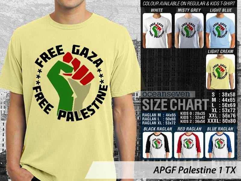 Kaos Muslim Islam Palestine 1 distro ocean seven