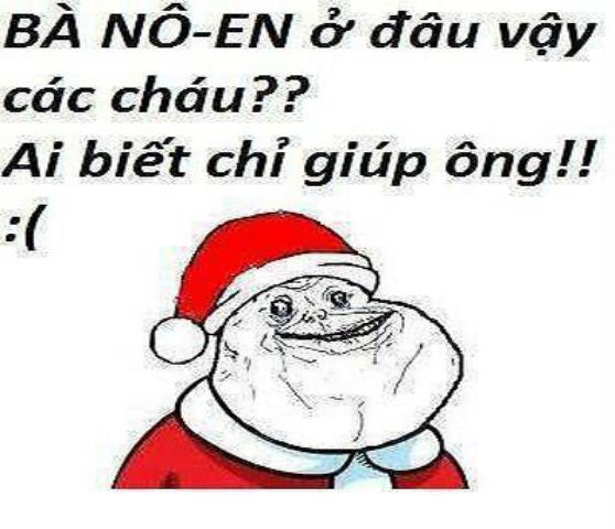 ảnh vui ông già Noel cũng độc thân