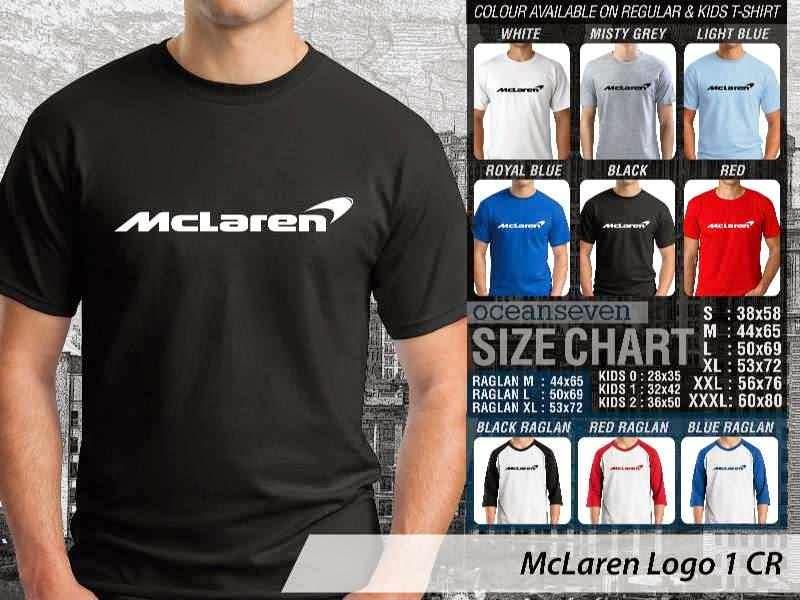 KAOS McLaren Logo Otomotif distro ocean seven