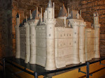 a model of the Louvre castle wayyy back in the day