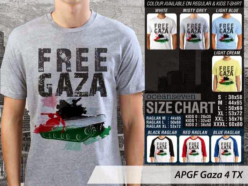 Kaos Muslim Islam Gaza 4 distro ocean seven