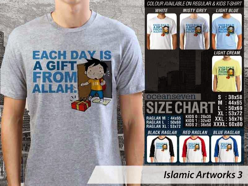 KAOS Muslim Each day is a gift from allah. Islamic Artworks 3 distro ocean seven