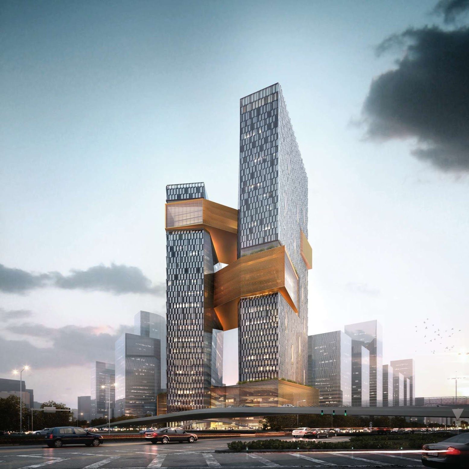 Shenzhen, Quantung, Cina: [TENCENT CORPORATE HEADQUARTERS BY NBBJ]