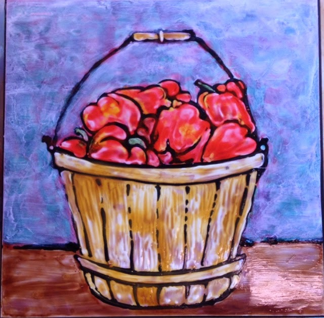 painting peppers Robin Baratta artist