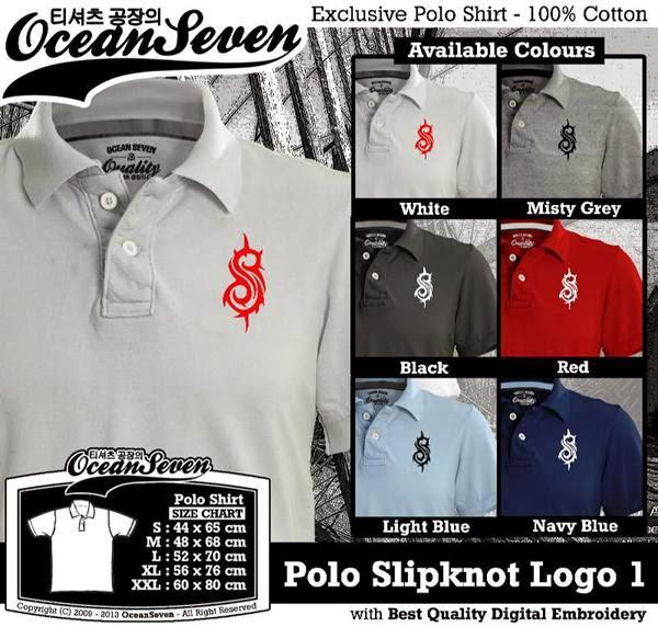 POLO Slipknot Logo distro ocean seven