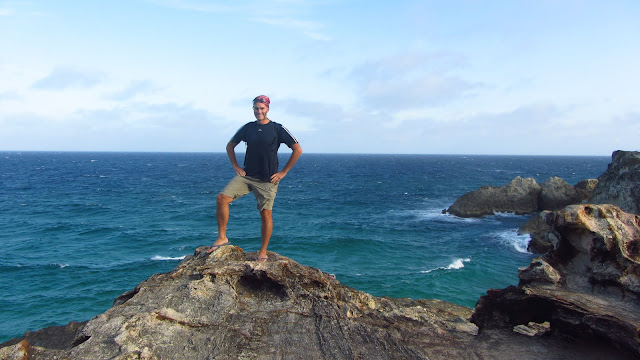Erik at Point Lookout - Queensland's easternmost point and a great place to watch marine life.