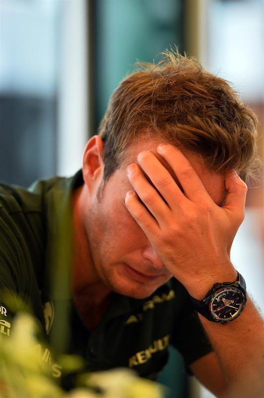 Гидо ван дер Гарде фэйспалмит на Гран-при Бельгии 2013