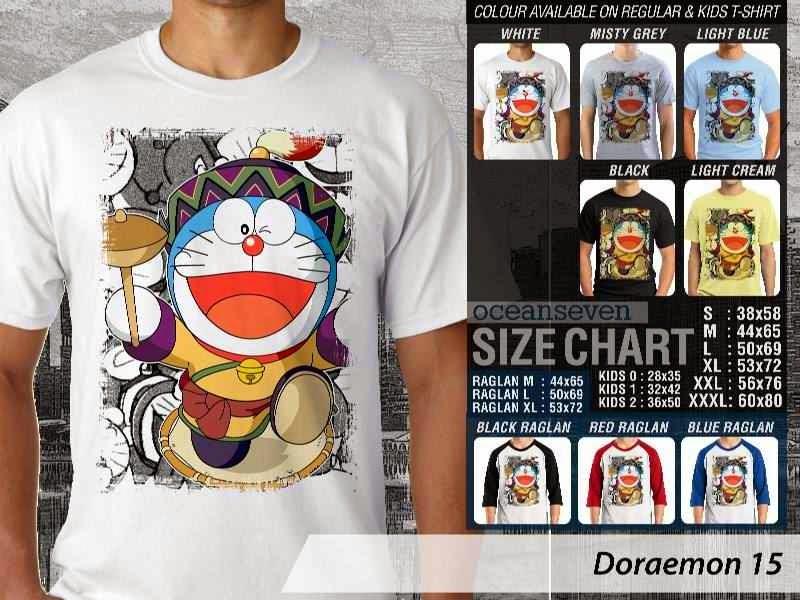 KAOS Doraemon 15 Manga Lucu distro ocean seven