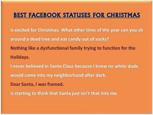 Top Funny Christmas Quotes For Facebook Status - Free Quotes, Poems ...