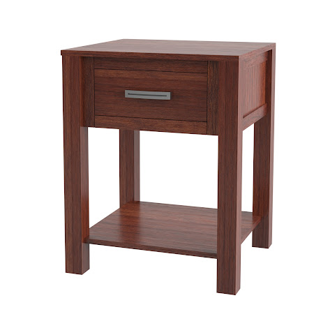 Dakota Nightstand with Shelf, Sedona Cherry