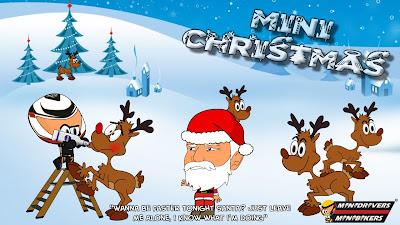 Кими Райкконен напаивает водкой северных оленей Санты - Рождественский комикс MiniDrivers