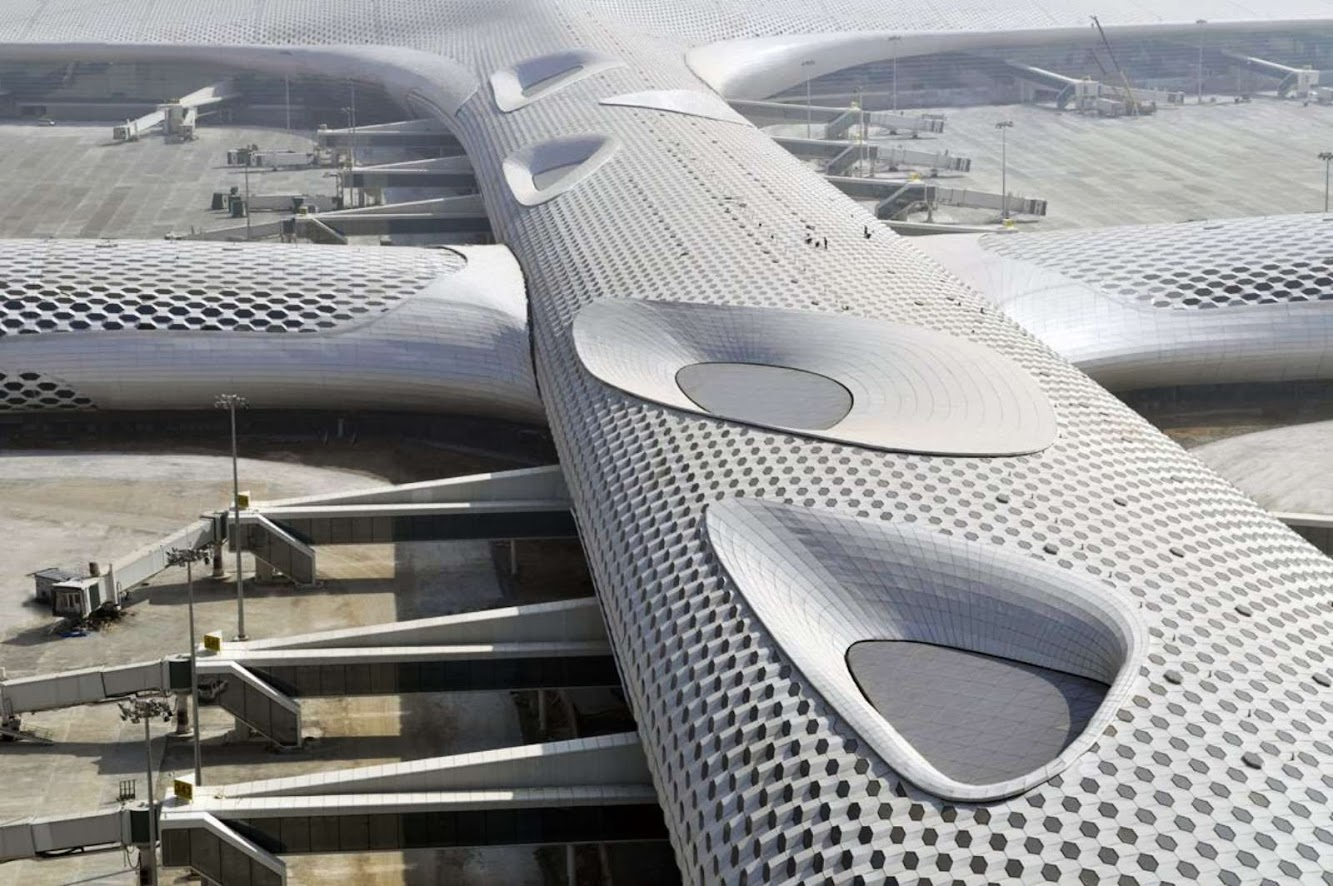 Shenzhen, Quantung, Cina: Fuksas Completes Terminal 3 At Shenzhen Bao'An International Airport