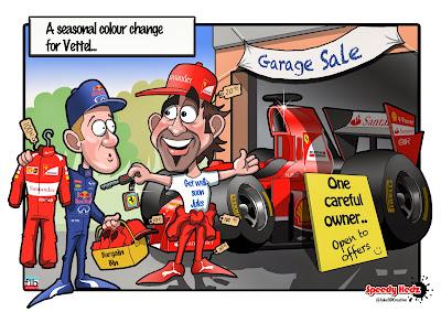 Себастьян Феттель посещает распродажу - комикс SpeedyHedz