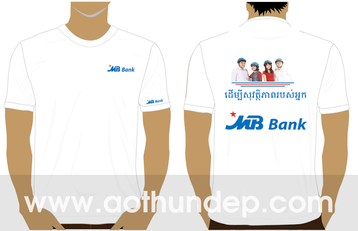 Áo thun đồng phục ngân hàng MB Bank