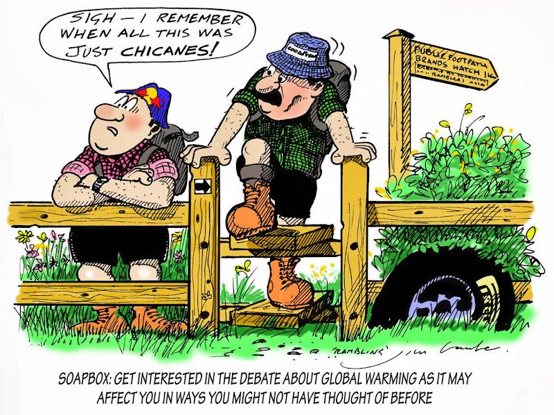 проблемы глобального потепления и Soapbox - комикс Jim Bamber