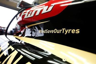 GodSaveOurTyres на болиде Lotus на Гран-при Великобритании 2013