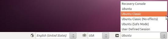 Ubuntu Classic login session