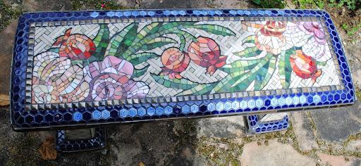 Mosaic Garden Benches