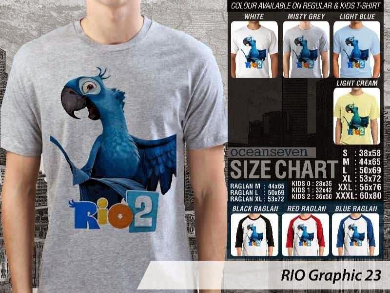 Kaos Film Animasi Lucu Desain RIO Graphic 23 distro ocean seven