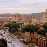 The City from the 3rd Deck at The Coloseum - Rome, Italy